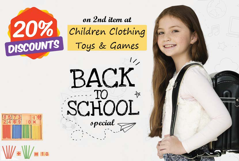 Back to School Special: 2nd item 20% OFF!
