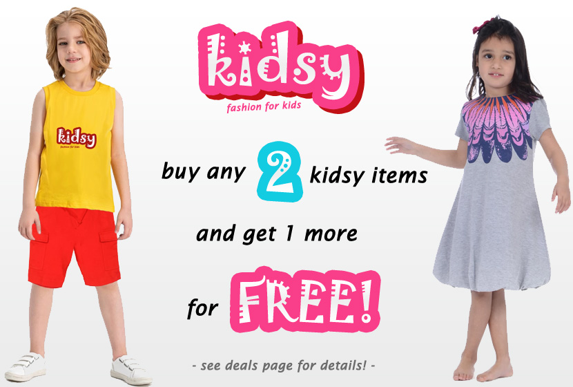 Buy any 2 Kidsy Items and Get 1 More fore FREE!