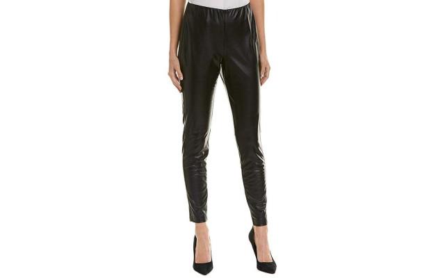 Faux-Leather Leggings (Black, 8)