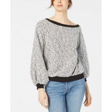 1.STATE Off-The-Shoulder Boucle Top (Natural, L)