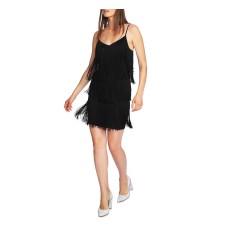 1. State Women's Fringe Slipdress (Black, 2)