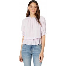 1.State Women's Mock Neck Micro Blouses