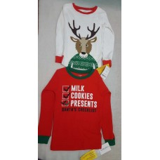 2 x Carter's Pajama Tops 4T for Christmas