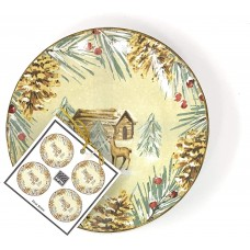222 Fifth First Snow Set of 4 Appetizer Plates