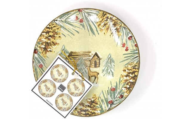 First Snow Set of 4 Appetizer Plates