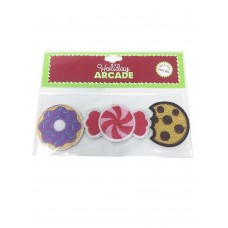 3-Pc. Sweets Cookie Candy Donut Peel & Stick Fabric Craft Patches