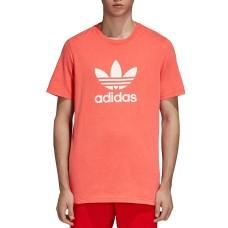 Adidas Originals Men's Trefoil Tee (Bright Red, S)