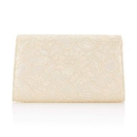 Adrianna Papell Seta Lace Small Envelope Clutch Latte
