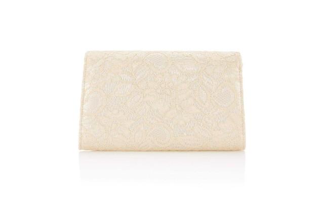 Seta Lace Small Envelope Clutch Latte