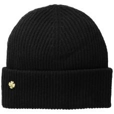 AK Anne Klein Women's Fisherman Rib Cuff Hat, Black, One Size