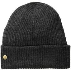 AK Anne Klein Women's Fisherman Rib Cuff Hat, Dark Grey Heather, One Size