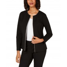 Alfani Beaded Zip Jacket (Black, 8P)