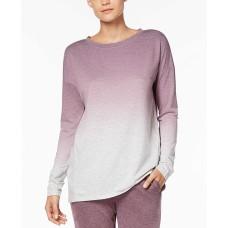 Alfani Dip-Dyed Pajama Top (Dark Purple, XS)