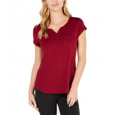 Alfani Essentials Knit Pajama Top (Plum Tart, 2XL)