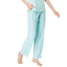 Alfani Geometric-Print Pajama Pants (Aqua/3XL)