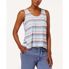 Alfani High-Low Pajama Tank Top (Island Stripe, XS)