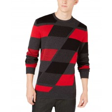 Alfani Men's Abstract Colorblocked Sweater (Red/Black)