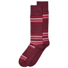 Alfani Men's Alfa Tech Blocked-Stripe Socks (Burgundy, One Size)