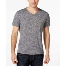 Alfani Mens Classic Fit Stretch Basic T-Shirt (Grey, S)