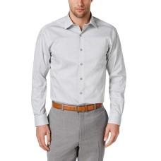 Alfani Men's Classic/Regular Fit Shaded Cube Print Shirt (White/Teal, 17-17.5 36-37)