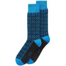 Alfani Men's Geometric-Print Socks (Dark Blue)