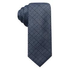 Alfani Men's Plaid Slim Silk Tie (Purple)