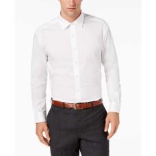 Alfani Mens Regular-fit Stretch French-cuff Dress Shirt (White,15-15.5/32-33)