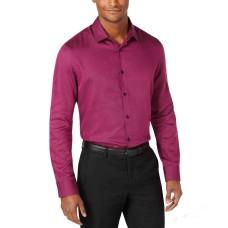 Alfani Men's Vesper Twill Shirt (Raspberry, XL)