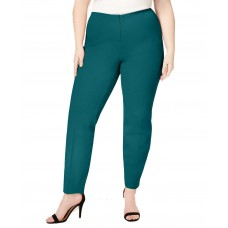 Alfani Plus Size Hollywood Skinny Bi-Stretch Pants (Teal, 16W)