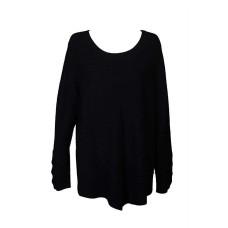 Alfani Plus Size Metallic Ribbed-Knit Tunic Sweater (Black, 0X)