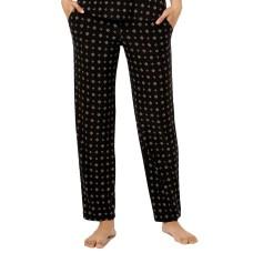 Alfani Printed Knit Pajama Pants (Black, XS)