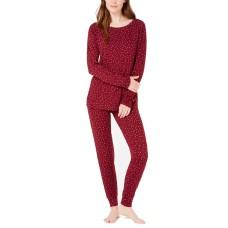 Alfani Printed Knit Pajama Set (Red, 3XL)