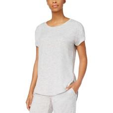 Alfani Scoop-Neck Pajama Top (Gray, XS)