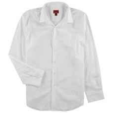 Alfani Slim Fit + Stretch Men's Dress Shirt (White, 17 Neck 36-37′ Sleeve)