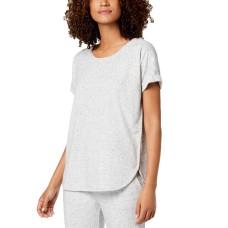 Alfani Super Soft Pajama Top (Gray, M)