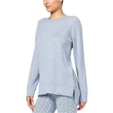 Alfani Women's Heathered Pajama Tunic Pajama Top ( Blue, 3XL)