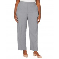 Alfred Dunner Plus Size Versailles Pull-On Pants (Silver, 20W/Short)