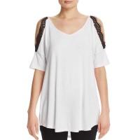 Alison Andrews Cold Shoulder Top (White, XL)