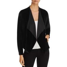 Alison Andrews Women's Velvet Drape-Front Jacket