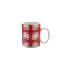 American Atelier Plaid Mug, Red