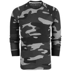 American Rag Men's Camo Thermal Crew Tops Shirts