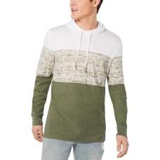 American Rag Men's Colorblocked Hoodie (Beige/Haki, XL)
