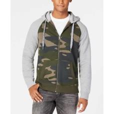 American Rag Men's Heavy Fleece Hoodie (Green, L)