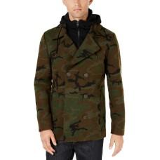 American Rag Men's Layered Camo Pea Coats