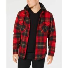 American Rag Men's Plaid Hooded Shirt Jackets