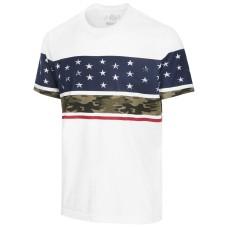 American Rag Men's Stars & Camo T-Shirt (White, Small )