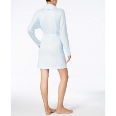 Ande Dolman-Sleeve Ribbed Cuffs Robes (Blue Space Dye, XL)