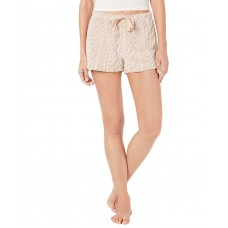 Ande Frosted Cable Cut Pile Plush Pajama Shorts (Beige, L)