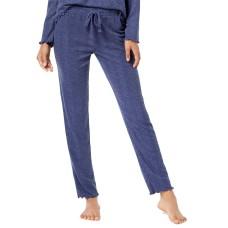 Ande Slim-Leg Waffled Pajama Pants (Gray Blue, S)
