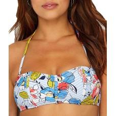 Anne Cole Brigitte Floral Quilted Bandeau Bikini Top (Multi, S)